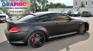 BMW 6 Series 3M Vinyl Wrap In Mount Prospect IL. Chrome Vehicle Wrap Chicago